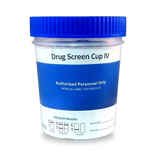 25 Cups - Urinalysis Kits - 12 Panel Diagnostic Multi Drug Screen Cup IV | Urine Drug Screening + CLIA Waived, AMP, BAR, BUP, BZO, COC, THC, PCP, MTD, MDMA, OXY, MET, OPI, MOR (25)