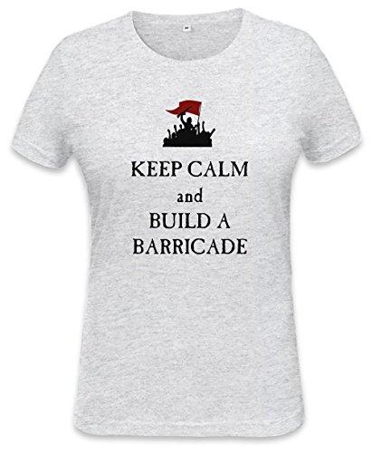 Keep Calm And Build A Barricade Womens T-shirt XX-Large