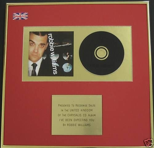 UK Music Awards Robbie Williams-CD Album Award-i ve Been Expecting You