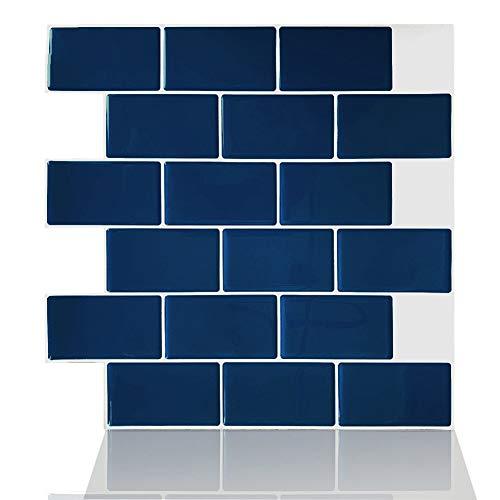 ZYCH Tile 10 Piezas Láminas de Vinilo Adhesivo en Azulejos Pegatinas de Baldosas,Pegatinas de Azulejos 3D Auto-Adhesivo Pegatina Decorativo Impermeable 30,5x30,5cm Pegatina