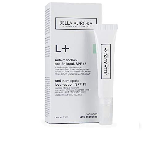 Bella Aurora Anti-Manchas Crema para Manchas Localizadas Día y Noche SPF 15, 10 ml | Despigmentante Facial | Quitamanchas Cara | L+