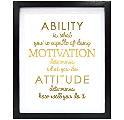 """Ability is what you're capable of doing. Motivation determined what you do. Attitude determines how well you do it."""