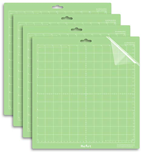 ReArt Standard Grip Cutting Mat for Silhouette Cameo 4/3/2/1 12x12in – 4 Pack Adhesive Cut Mat Replacement