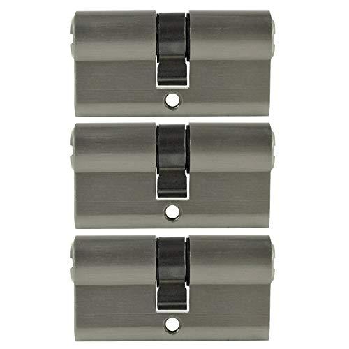 3x 70mm Profilzylinder PZ 35/35 gleichschließend inkl. 10 Wendeschlüssel