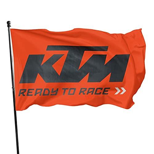 YeeATZ KTM Logo Flag 3x5 Ft Fahnen Flagge Flag Banner Polyester Material Gartenbalkon Gartendekoration Im Freien 90x150cm xwxb