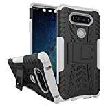 LG V20 Case, Asstar Dual Layer Soft TPU Hard PC Hybrid Drop Protection Durable Armor Defender Anti-Scratch Shockproof Protective Case Cover with Kickstand for LG V20 2016 (Black+White)