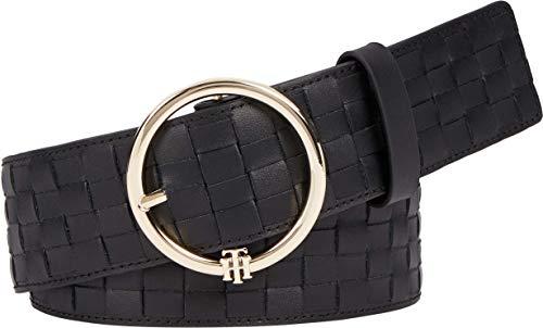 Tommy Hilfiger TH Woven Waist 4.5 Cinturn, Black, 80 cm para Mujer