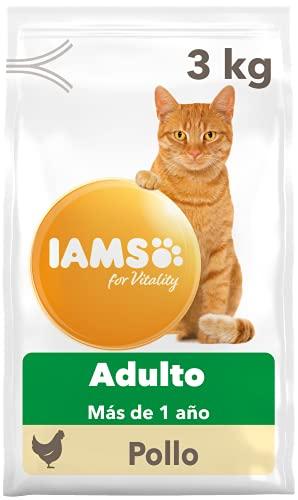 IAMS for Vitality Alimento seco para gatos adultos con pollo fresco (1-6 años), 3 kg