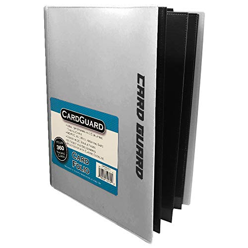 CardGuard Trading Card Pro-Folio, 9-Pocket Side-Loading Pages, Holds 360 Cards, White