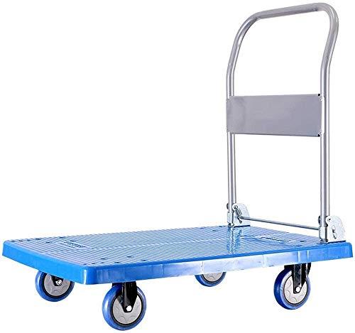 LJA Plegable Carro con Ruedas, Dolly con 4-Ruedas 360 la Plataforma Giratoria Plegable Carro de la Compra de Compras Viajar en Movimiento Automático Y Oficina Usando para Equipaje, Viaje, Auto, Mover