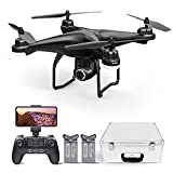 Potensic T25 Drone with 2K Camera for Adults, RC FPV GPS Drone with WiFi Live Video, Auto Return Home, Altitude Hold, Follow Me, Custom Flight Path, 2 Drone Batteries Black