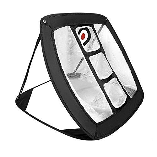 Joramoy Pop Up Golf Chipping-Netz, 81,3 x 71,1 x 61 cm, großer Raum, Golf-Trainingshilfe, für drinnen und draußen, zusammenklappbar, für Genauigkeit und Schwungübung, schwarz