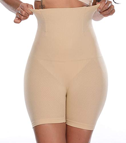 MISS MOLY Moldeadora Braga Faja Reductora Adelgazante Braguita Cintura Alta Abdomen Panty Shapewear 4x 9cm Acero Shaping Push up Butt Lifter Pantalón Elástico Invisible Body Shaper Lenceria para Mujer ⭐