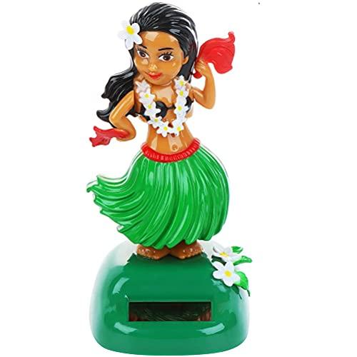 Tumnea Solar Bobblehead Hula Girl - Juguete de Baile Solar, Figura de niña Hawaii, Mini muñeca Hawaii Girl para Tablero, alféizar de Ventana, Coche, Oficina, Escritorio