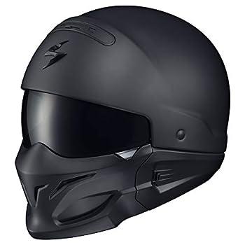 ScorpionExo Covert Unisex-Adult Half-Size-Style Matte Black Helmet  Matte Black XX-Large