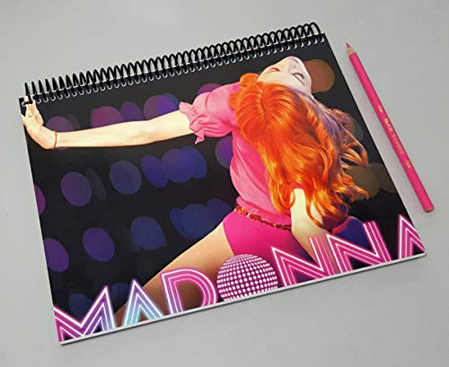 Madonna Confessions On A Dance Floor Madonna Books Custom 8.5' X 11' Spiral Notebook Album Cover Art Sketchbook Gift For Gay Husband
