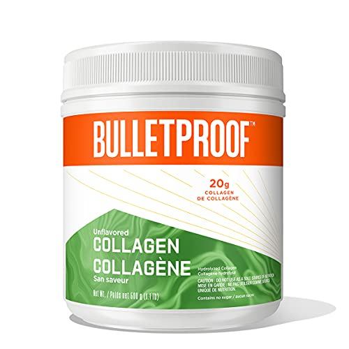 Bulletproof Collagen Protein Powder, Grass-fed Peptides and Amino Acids for Healthy Skin, Hair, Nails, Bones and Joints (New! 42.3 oz)