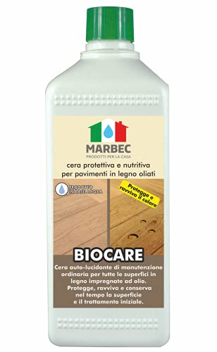 Marbec - BIOCARE 1LT   Cera protettiva e nutritiva per pavimenti in legno oliati