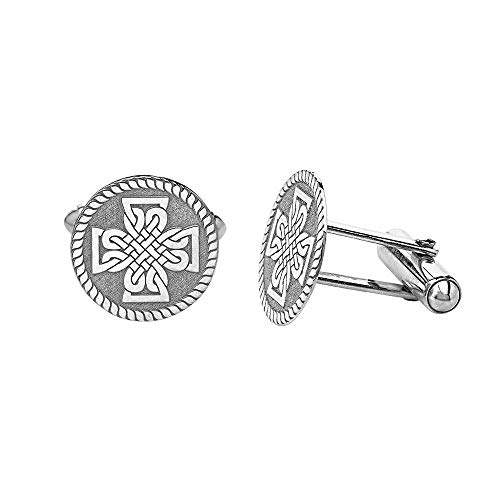 Saint Patrick's Day Irish Celtic Cross Cufflinks Sterling Silver