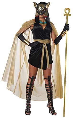 California Costumes Feline Goddess Bastet Adult Costume-Small Black/Gold