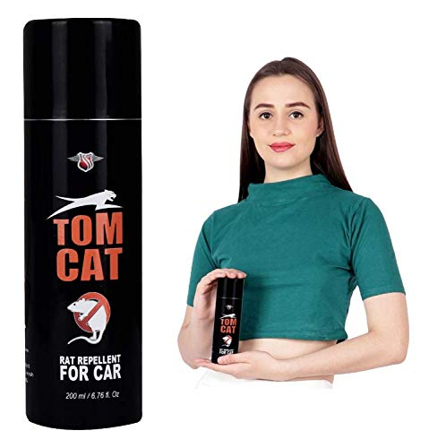 Shadow Securitronics Tom CAT No Entry Rat Repellent Spray for Cars Highly Effective Lasts 1 Year Leak Free Easy to Spray Nozzle 1st time in India (Pack of 1)