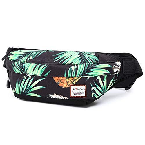 AQIWO Mens Fanny Pack Pineapple Waist Pack Bag Hip Pack Running Pack for Men Women