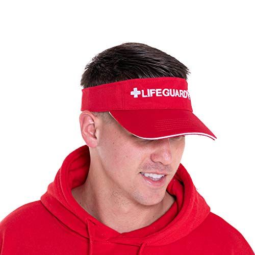 LIFEGUARD Official Adjustable Visor (Red/White)