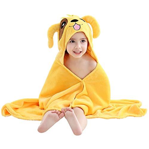 YUYAXPB kinderbadhanddoeken met capuchon, koraal fluweel dier badjas, baby zwemstrand poncho, handdoeken voor meisjes jongens, 60 x 120 cm