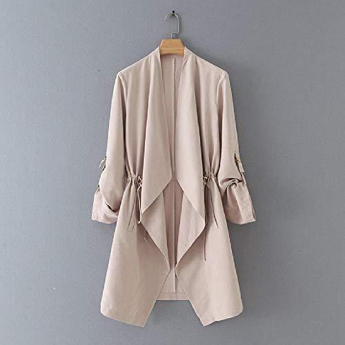 OKJI 2020 Nieuwe Vrouwen Elegante Effen Kleur Casual Suits Dames Lange Mouw Open Stitch Outwear Jas Vrije tijd Merk Tops