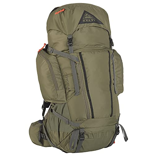 Kelty Coyote 60-105 Liter Backpack, Men's and Women's (2020 Update) - Hiking, Backpacking, Travel Backpack, Burnt Olive (65)