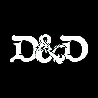 Dungeons and Dragons White Decal Vinyl Sticker|Cars Trucks Vans Walls Laptop| White |7.5 x 3 in|LLI588