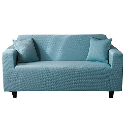 NOBCE Funda de sofá elástica Estiramiento Tight Wrap Fundas de sofá Todo Incluido para Sala de Estar Funda de sofá Silla Funda de sofá Funda de Almohada Azul 190-230CM
