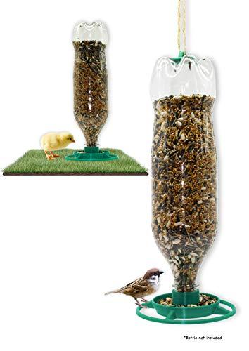 R&R SHOP - Comedero económico para pájaros, aves de corral y aves silvestres, capacidad máxima de 1,25 kg, 100% plástico de maíz reciclable y compostable