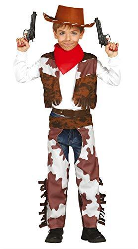 Guirca-Kostüm Cowboy für Kinder, Braun, Weiß, 10-12 Jahre, 85686