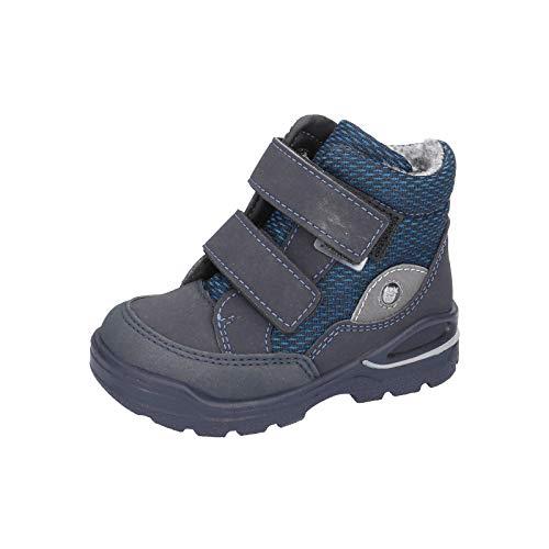 RICOSTA Kinder Winterstiefel Lasse von Pepino, Weite: Weit (WMS),wasserfest,waschbar, detailreich Winter-Boots,See/Jeans,25 EU / 7.5 Child UK