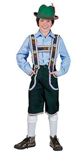 Karneval-Klamotten Kostüm Lederhose Jungen Tiroler Peter Bayernhose Trachten-Hose Kinder Oktoberfest Jungenkostüm 152