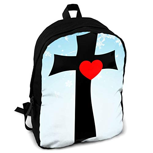 CZZD Christian Jesus Cross Love Travel Laptop Backpack Schoolbags Men And Women On Campus