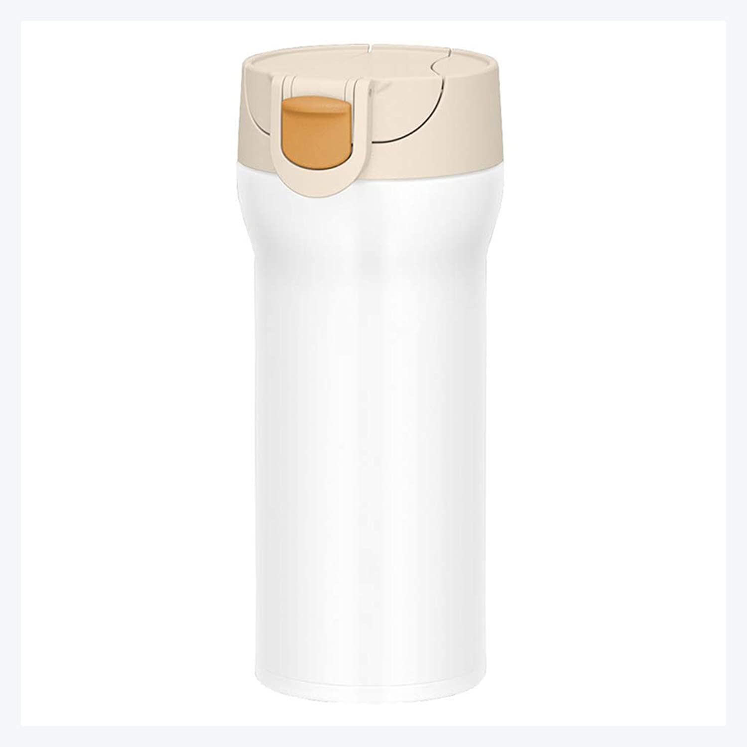 Vacuum Insulated Travel Mug Thermos One Handed Open to Drink, Double Walled & Leakproof for Hot & Cold Drink