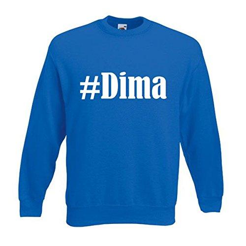 Reifen-Markt Sweatshirt Damen #Dima Größe S Farbe Blau Druck Weiss