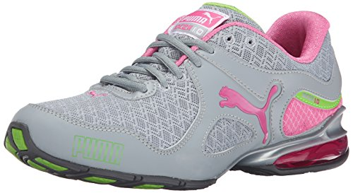 PUMA Women's Cell Riaze WN's em-w, Fluorescent Pink Silver/Pool Green, 10.5 B US