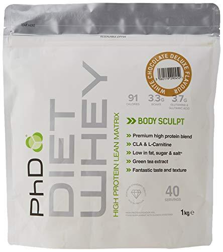 PhD Nutrition Diet Whey Protein Powder, 1 kg, White Chocolate