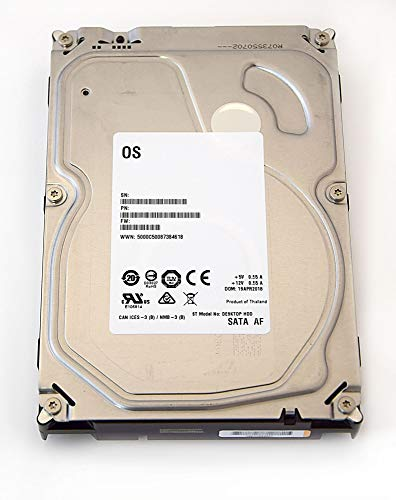 Seagate Barracuda/Desktop-HDD White Label Interne Festplatte 3,5 Zoll, 8,9cm, PC, HDD, NAS, 5400RPM, SATA-600, SATA3, Serial ATA, (4TB) (Generalüberholt)
