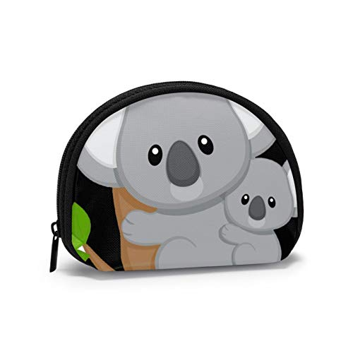 Koala de Dibujos Animados con Monedero para bebé Cambio de Bolsa de Efectivo Cremallera Monedero pequeño Carteras Bolsa de Almacenamiento Bolsa de cosméticos