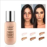 Nude Foundation,Face Moisturizing Concealer Lasting Waterproof Mmoisturizing Anti-aging Full Coverage Makeup, Suitable for All Skin Types (#2Ivory white)