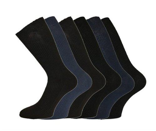 i-Smalls Herren Aler 12er Pack Non Elastische Baumwolle Socken (Dunkel) 45-49
