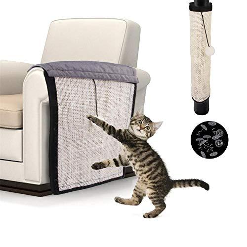 Aurely Cat Scratch Mat Sofaschild - Meubelbescherming Cat Scratching Pad Scratch Post Sisal Pad voor de zijkant van de bank, bank, bank, stoel - 108 x 30 cm transferbaar professioneel