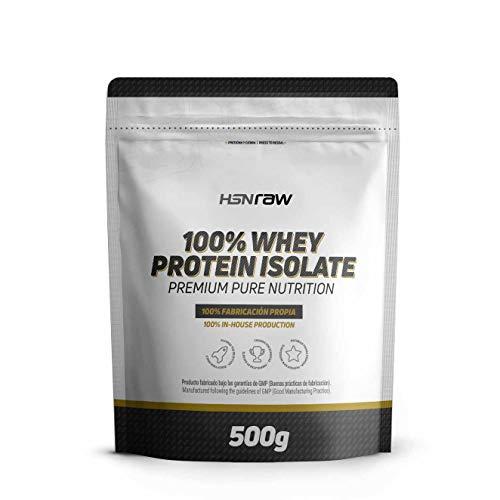 HSN RAW Proteína Aislada de Suero Lácteo (100% Whey Protein Isolate) Sabor Neutro, en Polvo, 500 gr