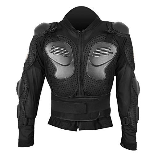 1-1 Giacca Protettiva per Corpo Moto, Equipaggiamento equipaggiamento per Protezioni da Corsa per Moto per Ciclismo, Sci e Pattinaggio, equipaggiamento Protettivo Fuoristrada,Black-XXXXL