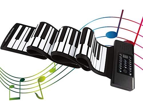 InLoveArts Roll Up Piano Teclado Portátil instrumento musical,128...
