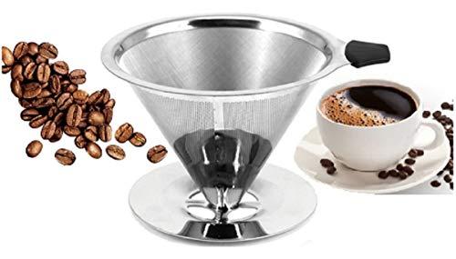 Coador Café Filtro Peneira Aço Inox Pour Over Reutilizável